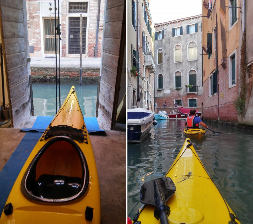 kayak à Venise