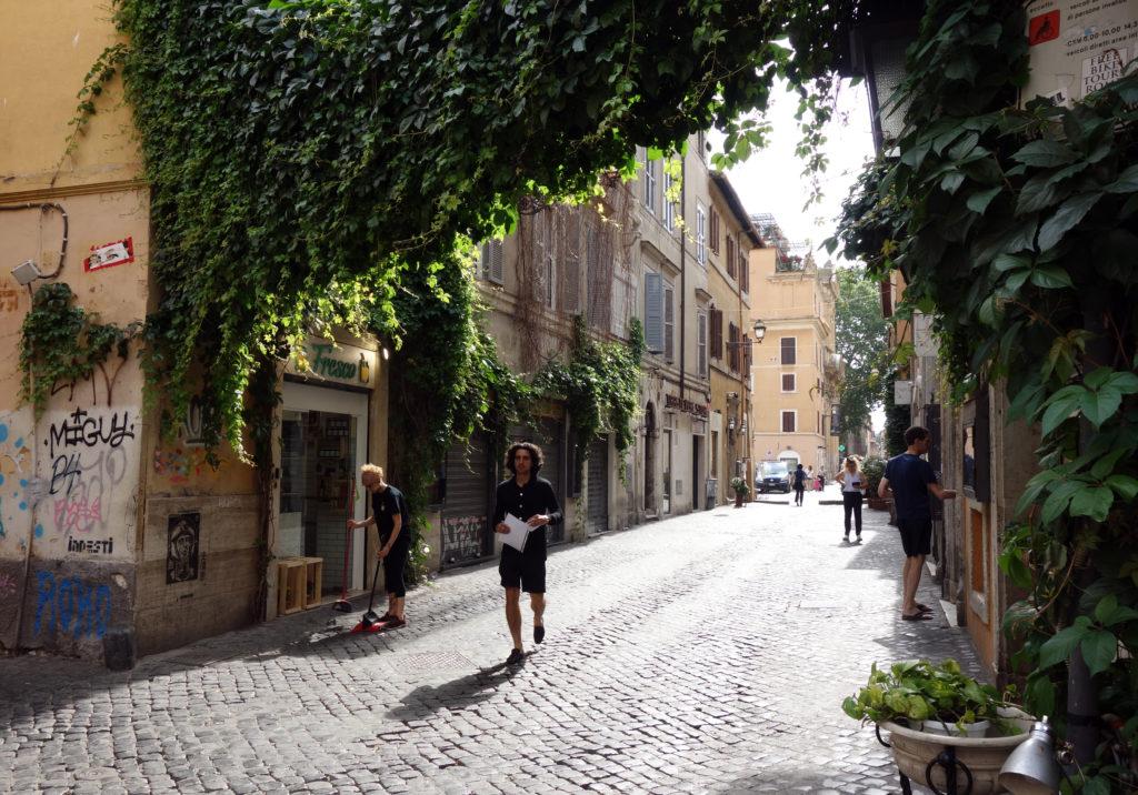 Une rue du Trastevere, à Rome